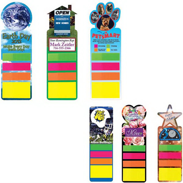 Personalized Sticky Note Bookmark, Full Color Digital