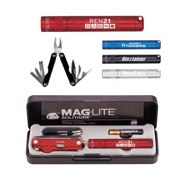Personalized K3A Mag-Lite (R) Solitaire and Multi-Function Tool Combo