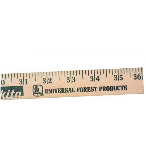 Imprinted Best Selling Yardsticks  - Clear Lacquer Finish
