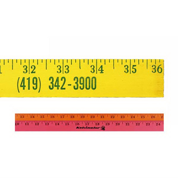 Imprinted Fluorescent Finish Yardstick