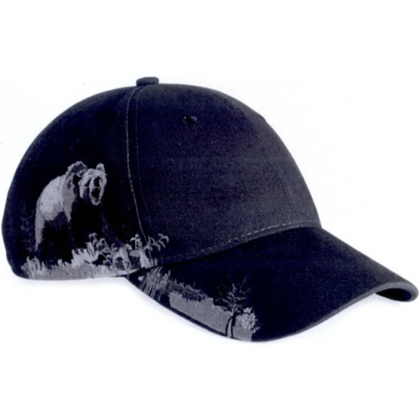 Printed Dri Duck Grizzly Bear Cap