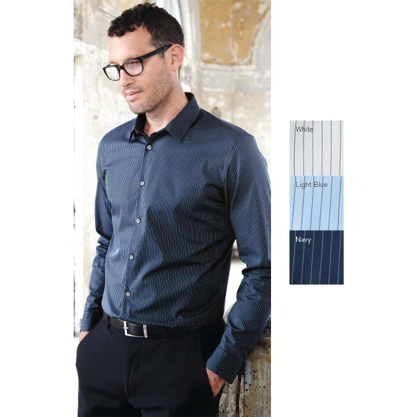 Custom Calvin Klein Slim Fit Cotton Stretch Striped Shirt