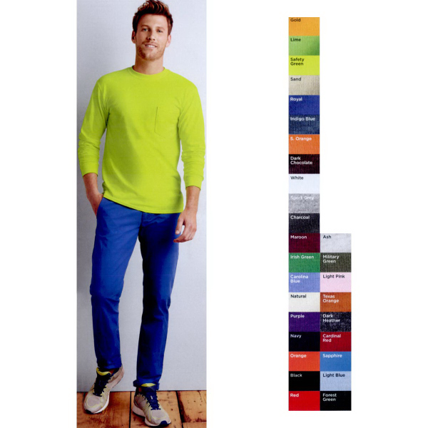 Promotional Gildan (R) Ultra Cotton (TM) Long Sleeve T-shirt with Pocket