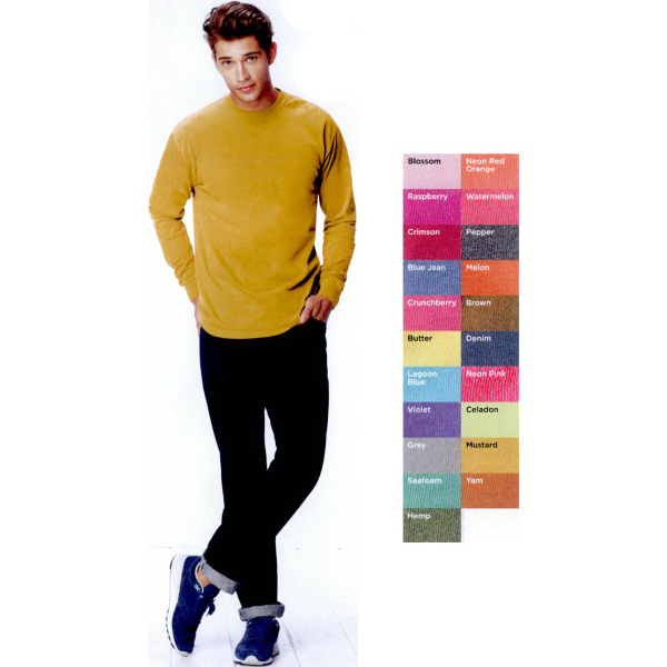 Imprinted Comfort Colors Long Sleeve T-shirt