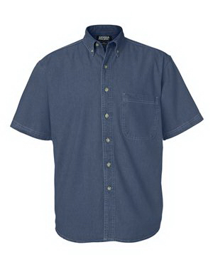 Personalized Sierra Pacific Short Sleeve Denim Shirt