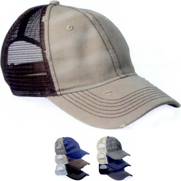 Customized Sportsman Bounty Dirty-washed Mesh Cap