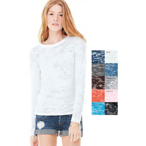 Imprinted Bella + Canvas Ladies' Burnout Long Sleeve T-Shirt