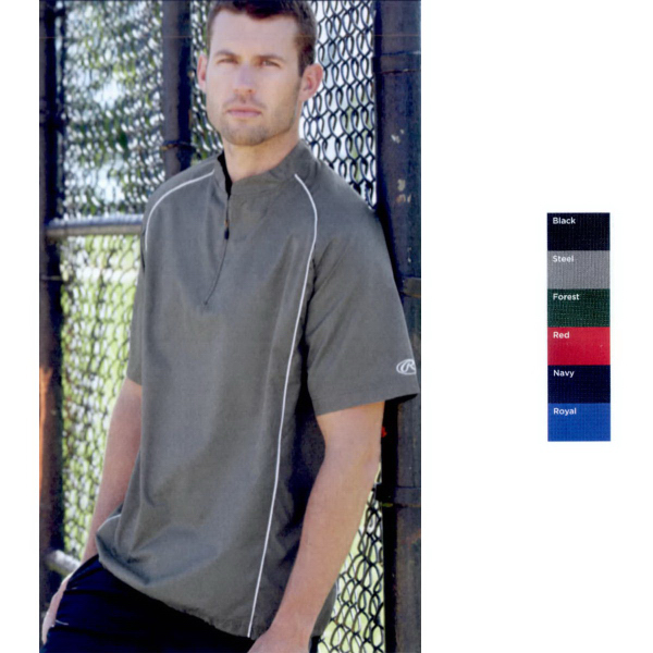 Promotional Rawlings Short Sleeve 1/4 zip Pullover