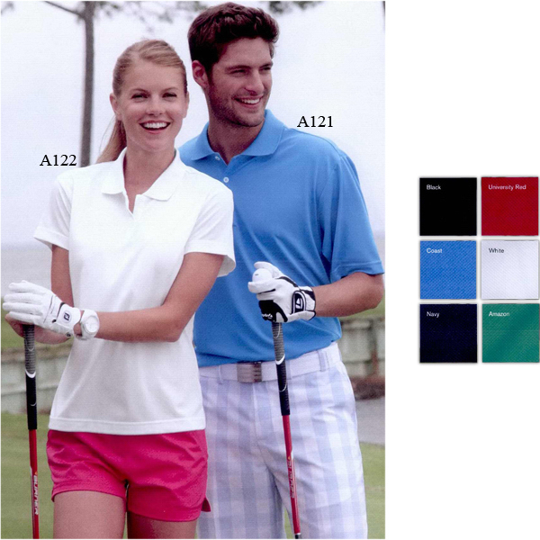 Custom Adidas Golf Ladies' ClimaLite (R) Pique Polo