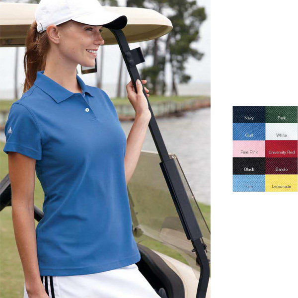Personalized Adidas Golf Ladies' ClimaLite (R) Pique Polo