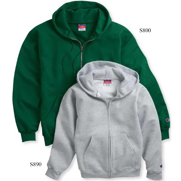 Imprinted Champion (R) Eco (R) Youth Full-zip Hooded Sweatshirt