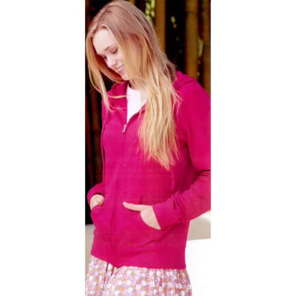 Personalized Independent Trading Co. Juniors' Full-zip Hooded Sweatshirt