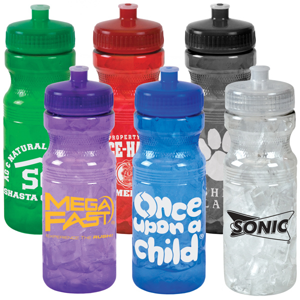 Custom 24 oz Translucent Sports Bottle
