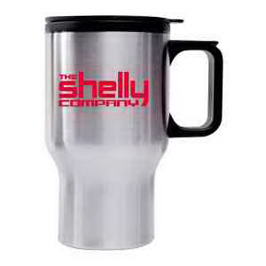 Printed 16 oz. Stainless Steel Driver's Mug with Handle