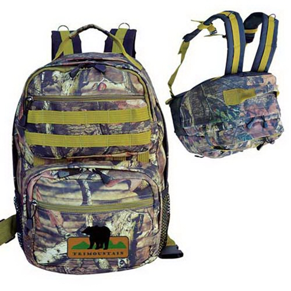 Imprinted Mossy Oak (R) camo ultimate outdoor backpack