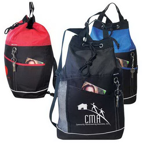 Promotional Drawstring sling shoulder pack