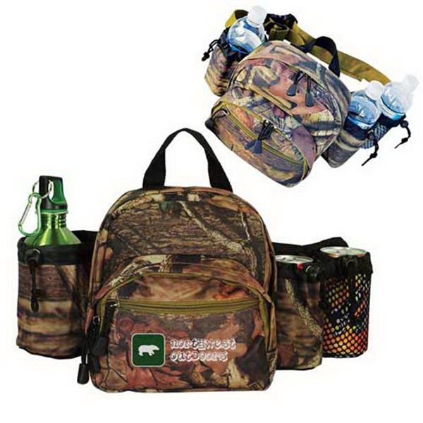 Customized Mossy Oak (R) camo outdoor waist pack