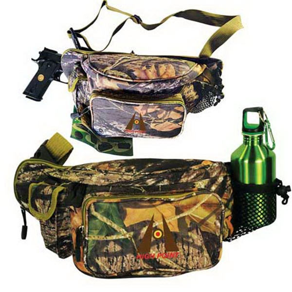 Customized Mossy Oak (R) camo outdoor pack with gun compartment