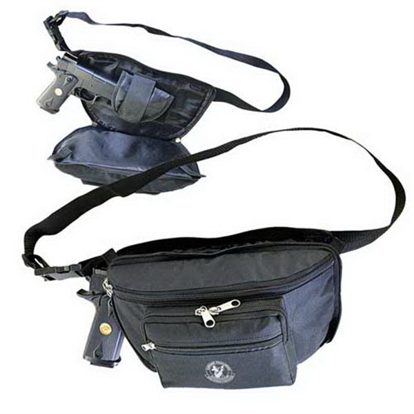 Printed Waist pack with Q-access gun compartment