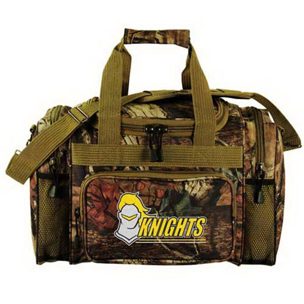 "Promotional Mossy Oak (R) camo 17"" outdoor duffel"