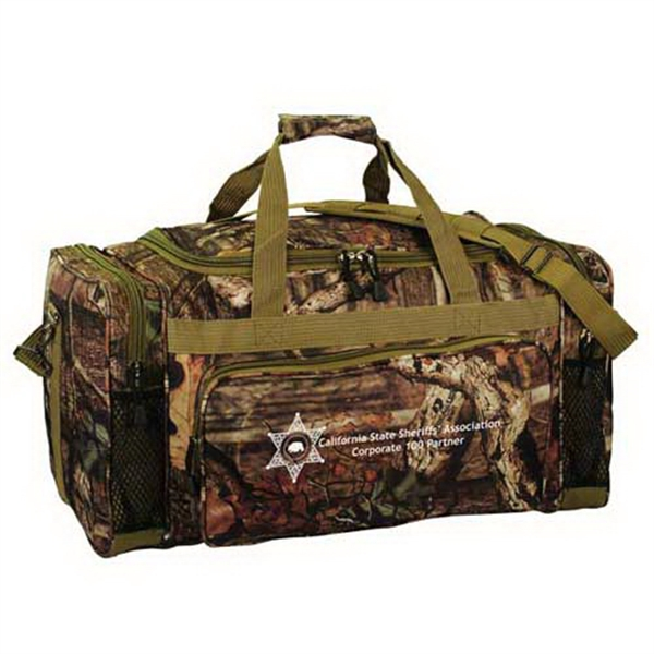 "Personalized Mossy Oak (R) camo 24"" outdoor duffel"