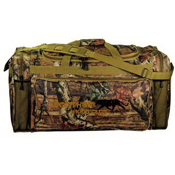 "Customized Mossy Oak (R) camo 30"" outdoor duffel"