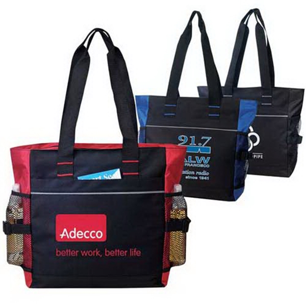 Promotional Zippered full-gusseted tote