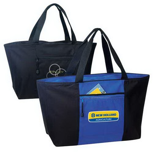 Personalized Jumbo zippered tote