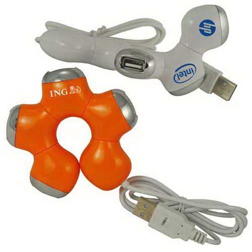 Personalized Twister 4-port USB 2.0 hub