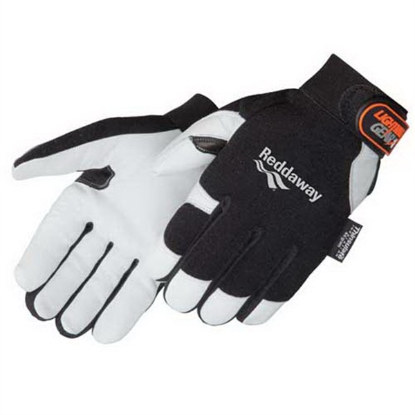 Custom Premium grain goatskin palm mechanic glove with Thinsulate