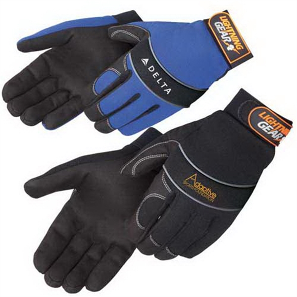 Printed Premium simulated leather mechanic gloves