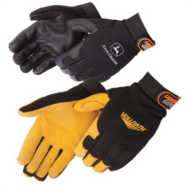 Customized Premium grain deerskin palm mechanic glove