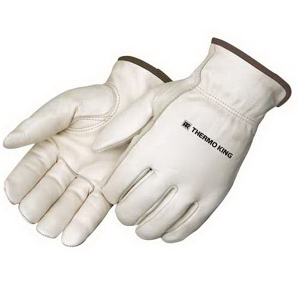 Custom Standard grain cowhide driver glove with thermal lining