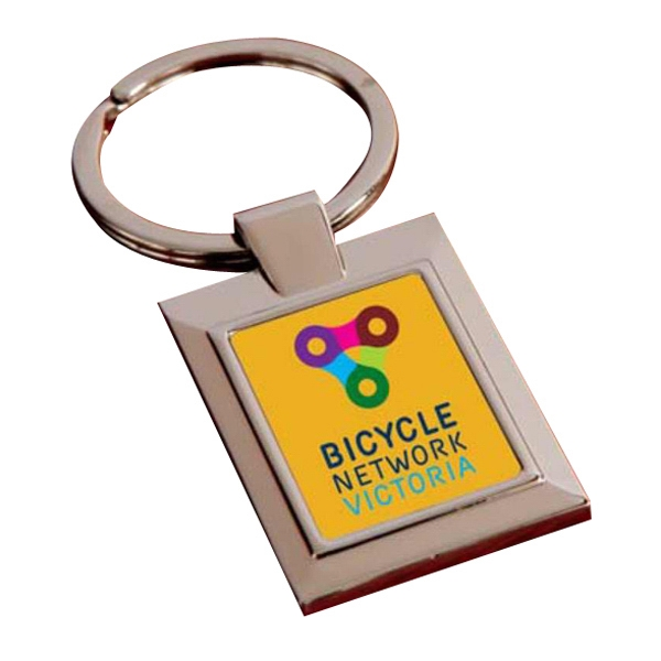 Promotional Rectangle Full Color Key Ring