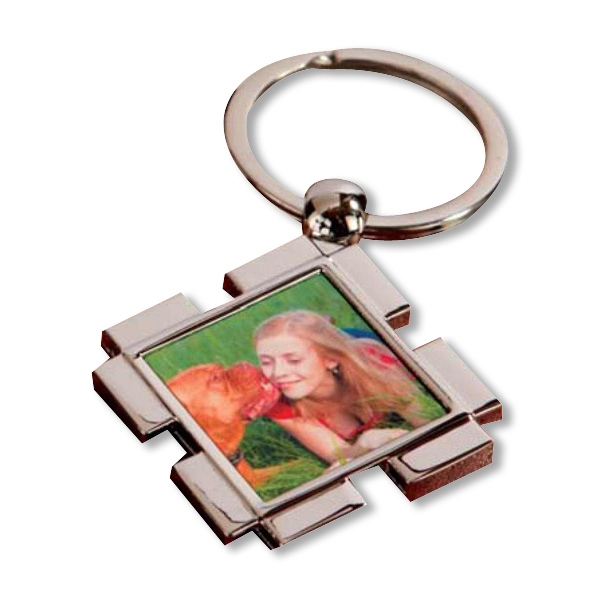 Customized Square Full Color Key Ring