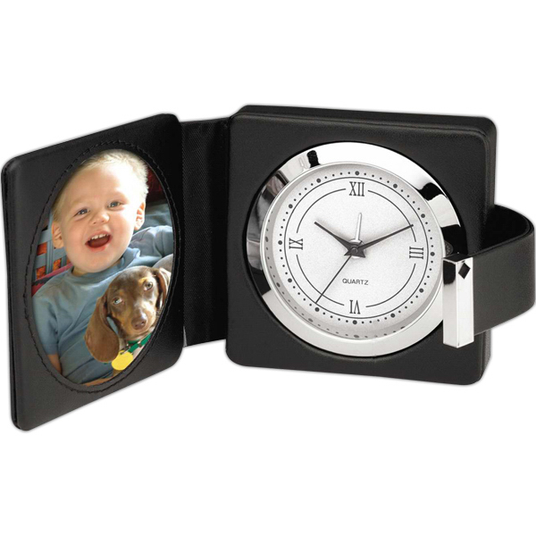 Personalized Travel alarm and photo frame