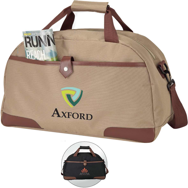 Promotional Leatherette Trimmed Duffel