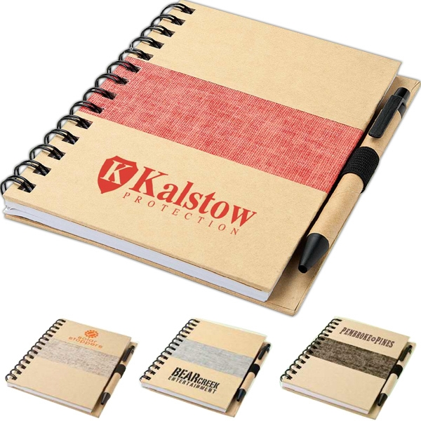 Imprinted Recycled notebook and pen
