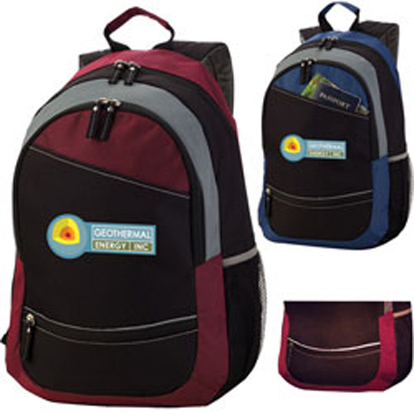Promotional Reflective Stripe Computer Backpack