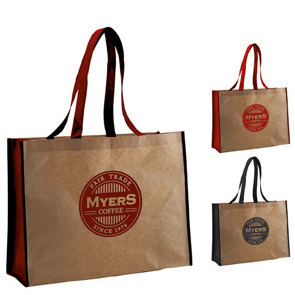 Imprinted Recycled Paper Non-Woven Landscape Tote