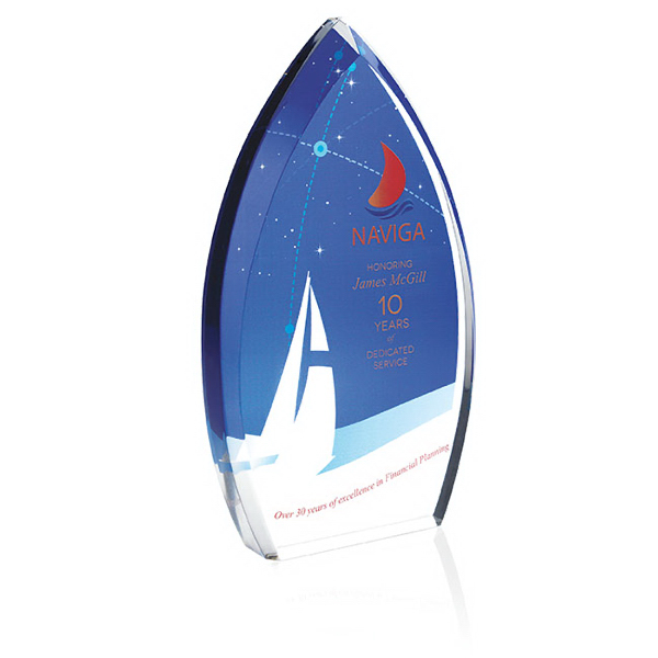 Custom Enterprise Teardrop Award