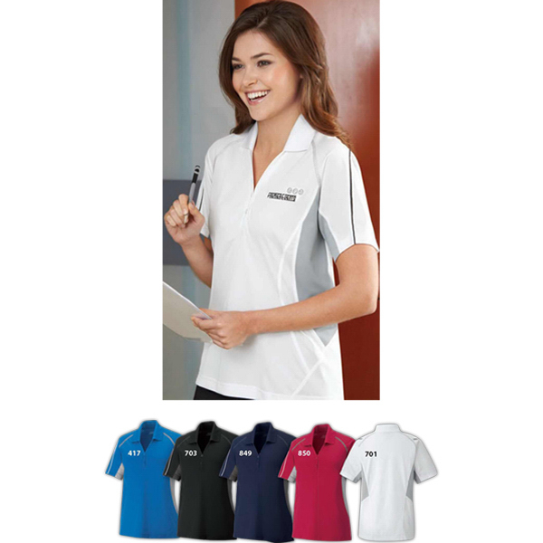 Printed Ladies' Parallel Snag Protection Polo with Piping