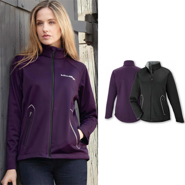 Printed Ladies' North End (R) Splice 3-Layer Soft Shell Jacket