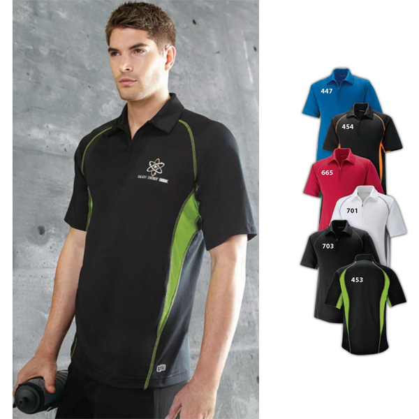 Promotional Men's North End Sport (R) Serac Performance Zippered Polo