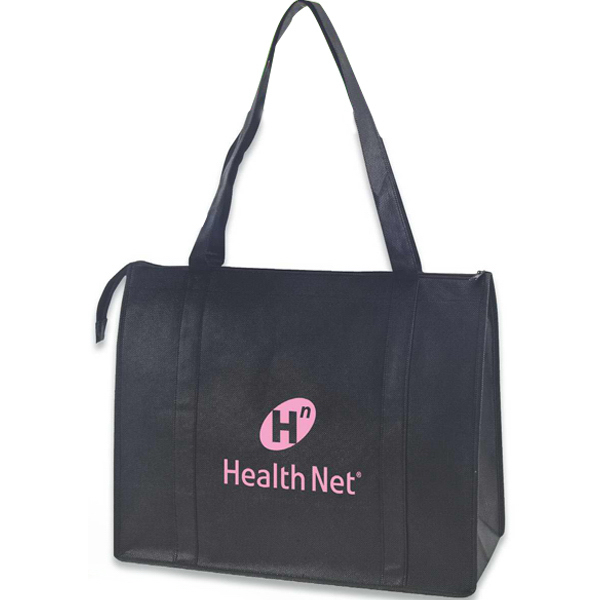 Customized Non-woven zippered tote