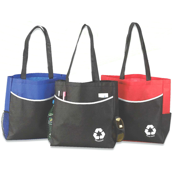 Imprinted Eco large pocket tote