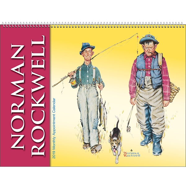 Imprinted Rockwell Monthly Appointment Calendar