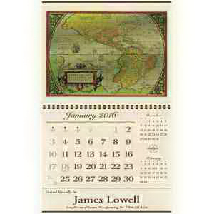 Custom Antique Foil Etch (TM) Calendar
