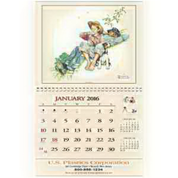 Promotional Rockwell Embossed Calendar