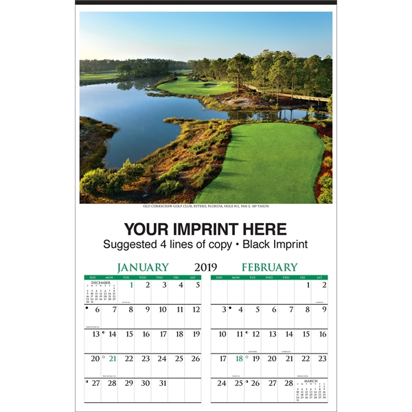 Customized Golf Executive Calendar
